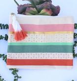 Punchy's Metallic Striped Multipurpose Bag