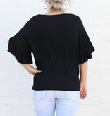 Punchy's Ruffle Sleeve Embroidered Top