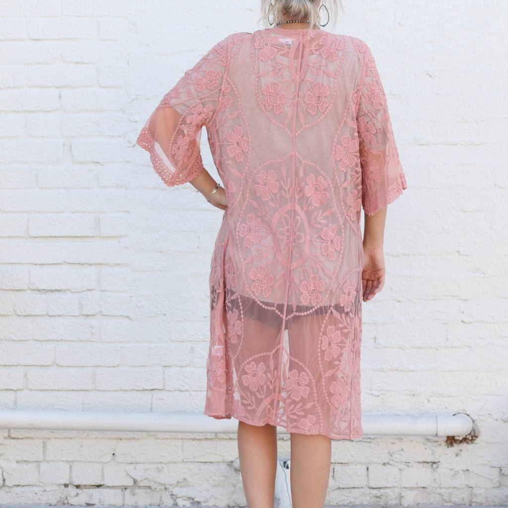 Punchy's Blush Lace Duster