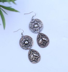 Punchy's Round and Teardrop Concho Earring