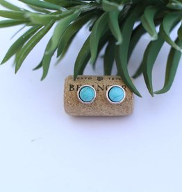 Punchy's Silver with Inlayed Turquoise Stud