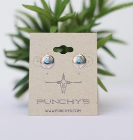 Punchy's Small Sterling Silver Sun with Turquoise Stud