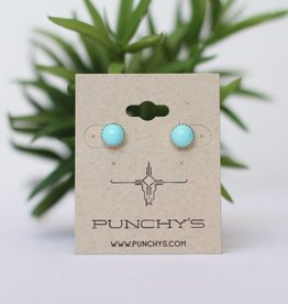 Punchy's 1cm Turquoise Stud