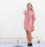 Punchy's Dusty Rose Shirtdress