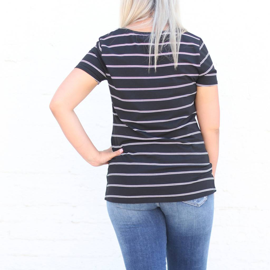 Punchy's Striped Knotted Basic Tee