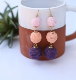 Punchy's Round Tiered Earring