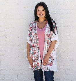 Punchy's Multicolored Embroidered Kimono