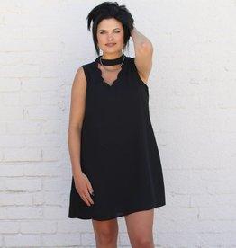 Punchy's Scallop Trim Cut Out Choker Dress