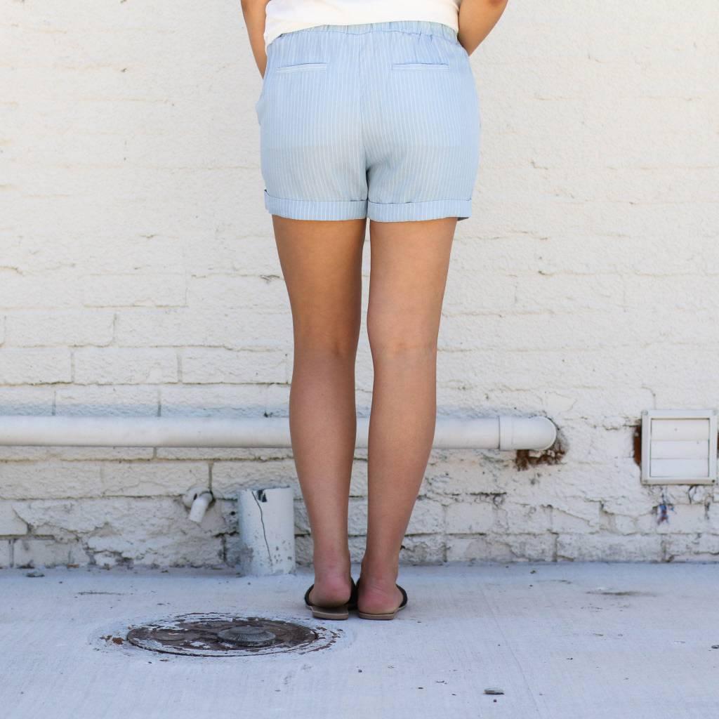 Punchy's Cuffed Striped Drawstring Shorts