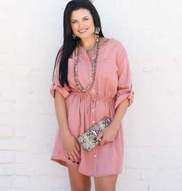 Punchy's Dusty Rose Shirtdress
