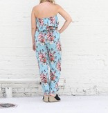 Punchy's Baby Blue Floral Print Ruffle Romper