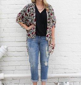 Punchy's Burnout Velvet Floral Kimono