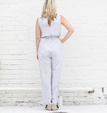 Punchy's Light Blue and White Striped Jumpsuit