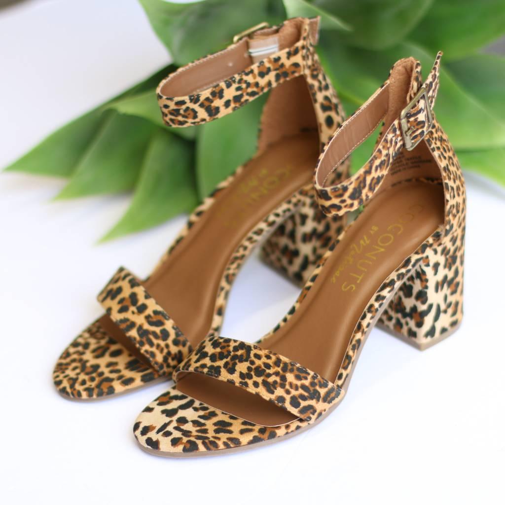 Punchy's Leopard Ankle Strap Sandal