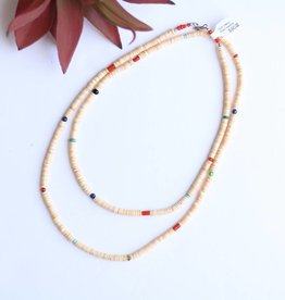 Punchy's Multi Melon Shell Heishe Necklace 40""