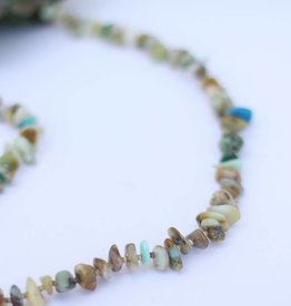Punchy's Blue Opal and Heishe Necklace37.5""