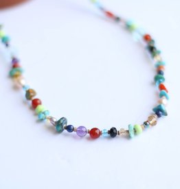 Punchy's Multi Beaded Necklace 21""