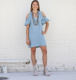 Punchy's Greece Cold Shoulder Dress