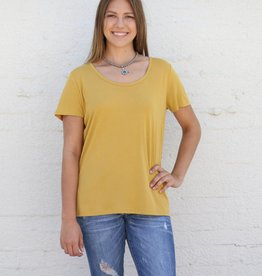 Punchy's Mustard Basic Knit Tee