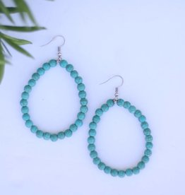 Punchy's Turquoise Beaded Hoop Earring