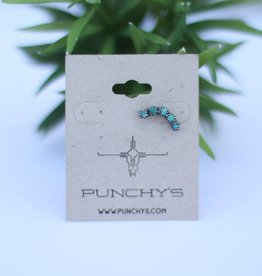 Punchy's Sterling Silver Green Turquoise Ear Cuff
