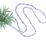 Punchy's Rounded Blue Turquoise and Dark Brown Heishe Long Necklace