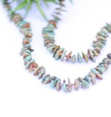 Punchy's Rounded Chipped Green Turquoise and Heishe Necklace