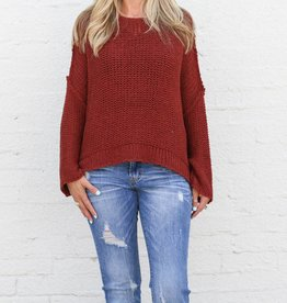 Punchy's Thick Knit Open Sleeve Boxy Sweater