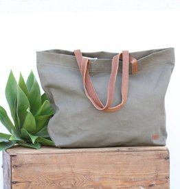 Punchy's Never Full Olive Canvas Tote