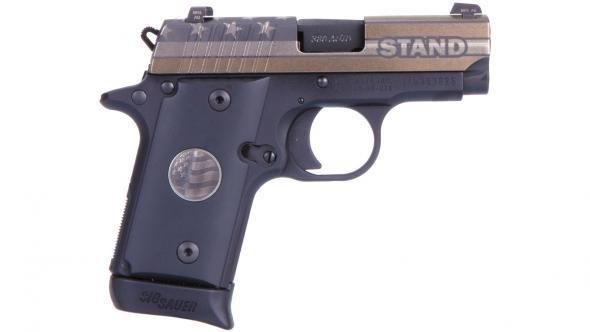 """Rotational Sig Sauer P238, STAND edition, 380acp, 2.7"""", Night Sights, 6/7rd (SPECIAL EDITION)"""