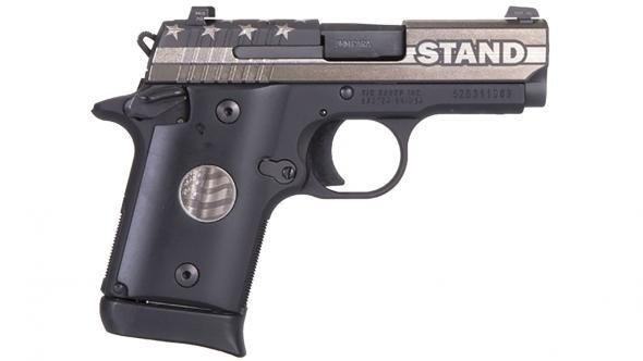 "Rotational Sig Sauer P938, STAND edition, 9mm, 3"", Night Sights, 6/7rd (SPECIAL EDITION)"