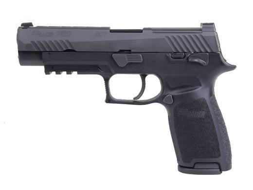 "Handgun New Sig Sauer P320 M17 Talo Edition, w/ Safety, optics ready, 17+1, 9mm, 3.9"", Night Sights, Black Finish"