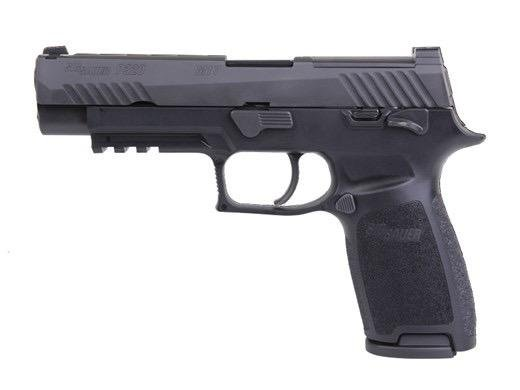 "Sig Sauer P320 M17 Talo Edition, w/ Safety, optics ready, 17+1, 9mm, 3.9"", Night Sights, Black Finish"