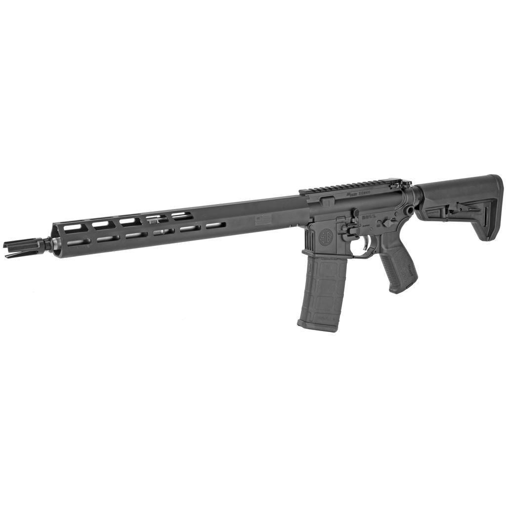 "Rotational Sig Sauer, M400 TREAD, Semi-automatic, 223 Rem, 556NATO, 16"" Stainless Barrel, Magpul SL-K Stock, M-Lok Handguard, Black Finish, 1 Mag, 30Rd"