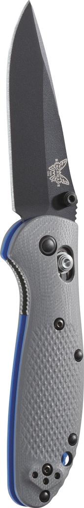 Folding Benchmade 556BK Mini Griptilian, Black Blade, grey handle