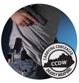 CCDW 12/21/19 Sat - CCDW Class - 9:30 to 5pm