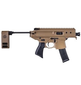 Rotational Sig Sauer MPX Copperhead Pistol, Coyote, 9mm, 20rds, with telescoping brace