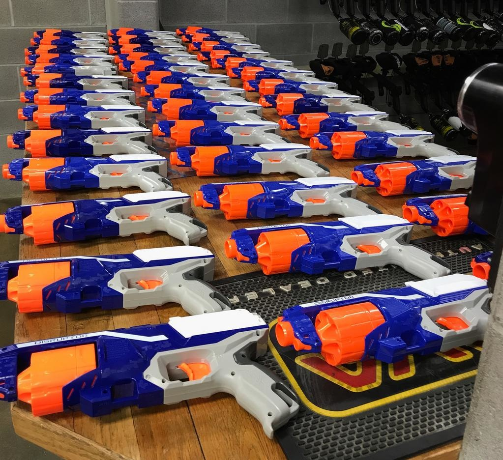 Private Nerf Party, Minimum 10 players, includes blaster, eye protection, 2 hours