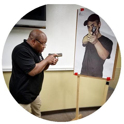 Advanced 07/20/19 Sat - Self Defense Pistol Level 1 - 9:30 to 1:30