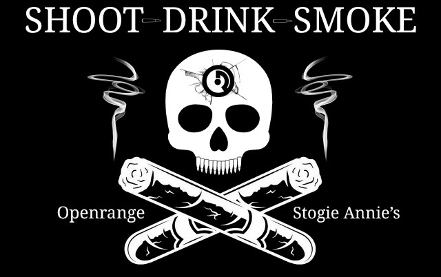 Basic 05/18/19 - Shoot Drink Smoke - 2 to 5 - Blast 5 handguns, Try 3 bourbons, Try a Cigar