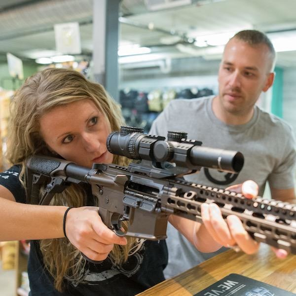 Date Night - Shoot A Rifle Package for 2 - includes range time, 1 rental rifle, and rental eye and ear protection.  Plus 10% off ammo