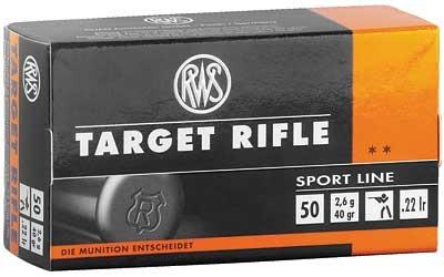 Ammo, RWS 22LR Target, 40 gr, 50 rd