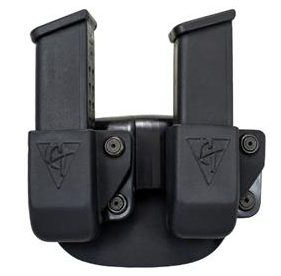 Comp-Tac Glock 17, 19 Double Magazine Pouch, Paddle, Right Handed Shooter (LSC) - Also fits Glcok .45 GAP