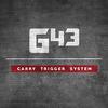 GLOCKTRIGGERS G43 Reduced Pre-Travel Carry Trigger Kit, 9MM