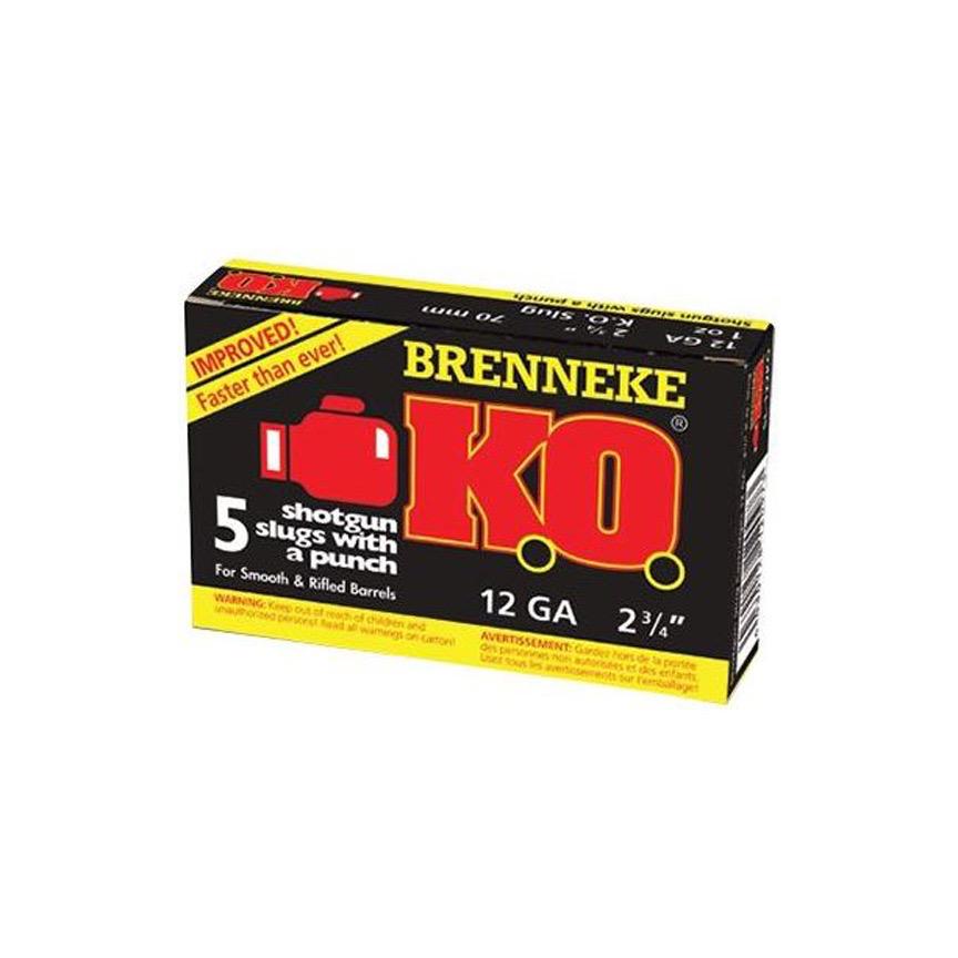 Ammo, Brenneke KO Slug, 12GA, 2 3/4IN, 1 OZ 437GR, 5RD