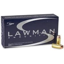 AMMO - Speer Lawman CleanFire 40 S&W Ammo 180 Grain Total Metal Jacket