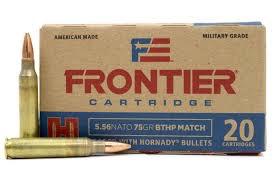 Ammo, Frontier 5.56, 75 gr, 20 rd