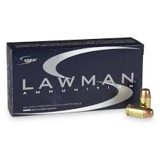 Ammo, Speer Lawman,  45GAP, 185 gr TMJ, 50rds.