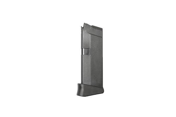 Glock 43 Magazine, 9mm, 6 rd with factory finger extension