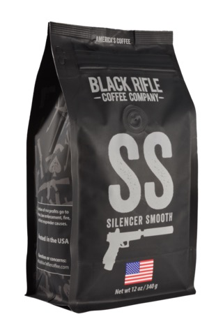 Black Rifle Coffee Silencer Smooth Coffee Blend - 12 oz Whole bean